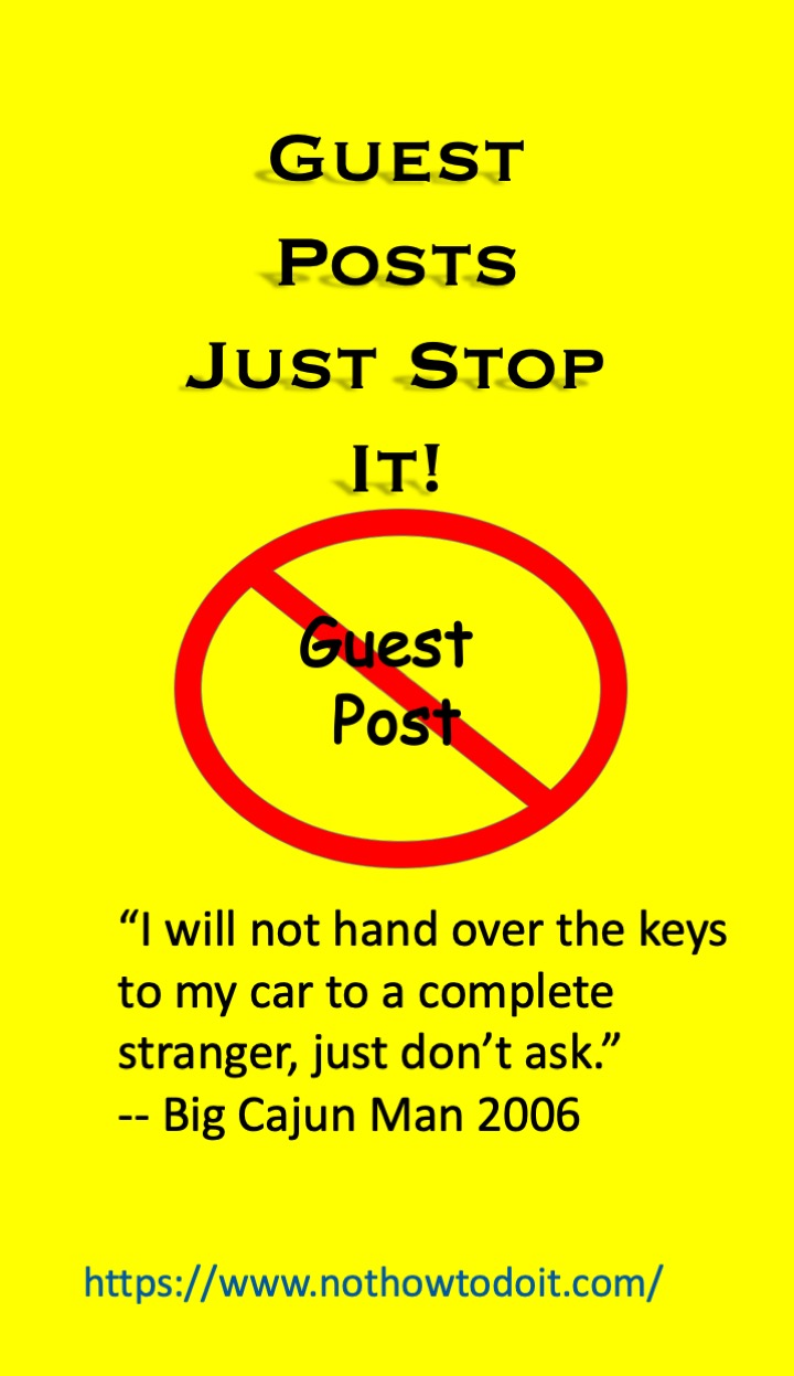 Guest Posts Stop The Madness